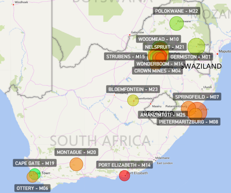 Interactive sales map
